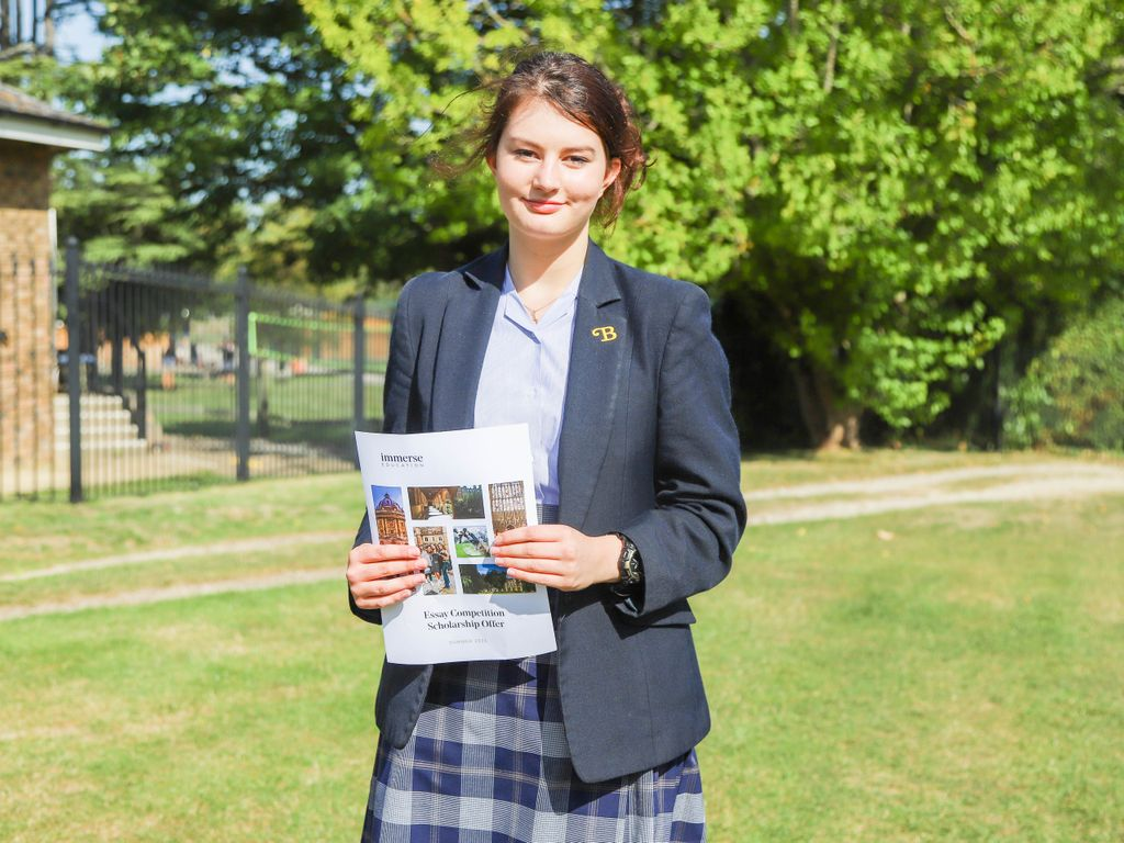 Georgina Wins Scholarship in Prestigious Essay Writing Competition